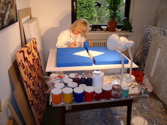 15.01.2003. TUAREG - Mischtechnik auf Leinwand, 104 x 84 cm, 2003