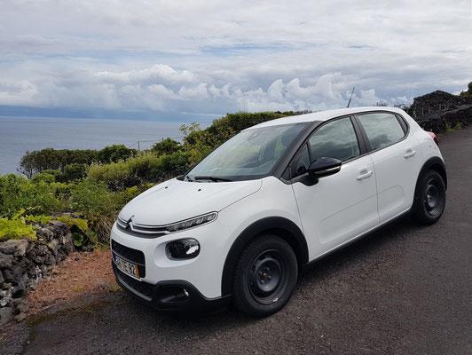 Unser Mietwagen auf Pico, ein Citroën C3
