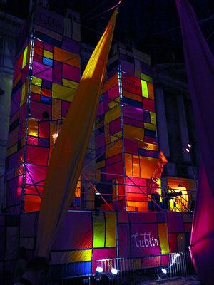 Lichtkonstruktion von Jaroslaw Koziara. Lublin, Stadt der Inspiration in der Europäischen Kulturhauptstadt Wroclaw vom 25. - 29.5.2016