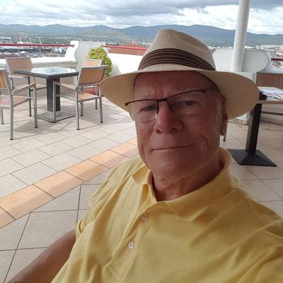 Mittagspause auf der Dachterrasse des Hotels Casa Granda