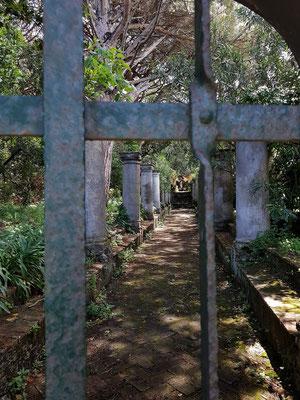 Zugang zu einem Privatgrundstück auf Capri