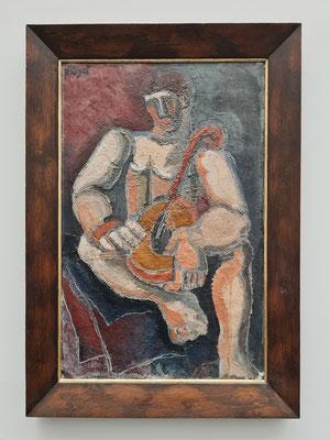 Helmut Kolle (1899-1931): Mandolinenspieler, 1925/26, Öl auf Leinwand