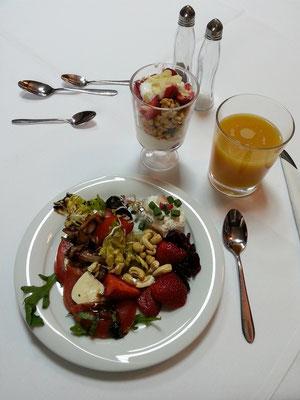 Reichhaltiges Frühstück von guter Qualität