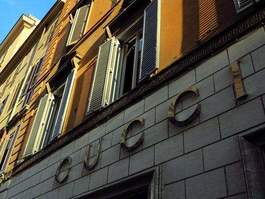 Luxusgeschäfte in der Via del Condotti