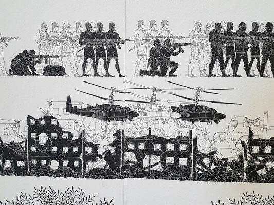 Ai Weiwei (geb. 1957): Odyssey, 2017, Wallpaper