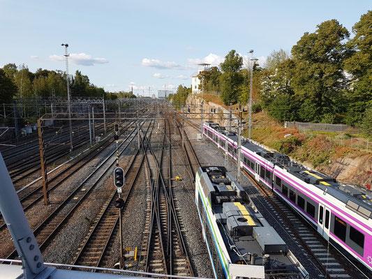 Bahngleise nördlich des Hauptbahnhofs