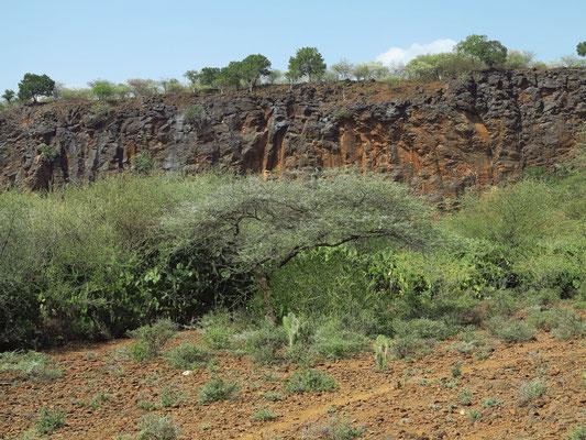 Felswand des Rift Valley