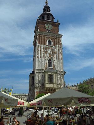 Rathausturm, Rest des im 13. Jahrhundert erbauten und wegen Baufälligkeit im 19. Jahrhundert abgetragenen Krakauer Rathauses