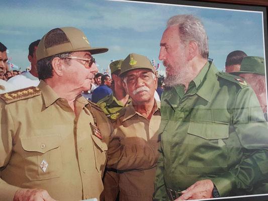 Foto von Fidel und Raúl Castro