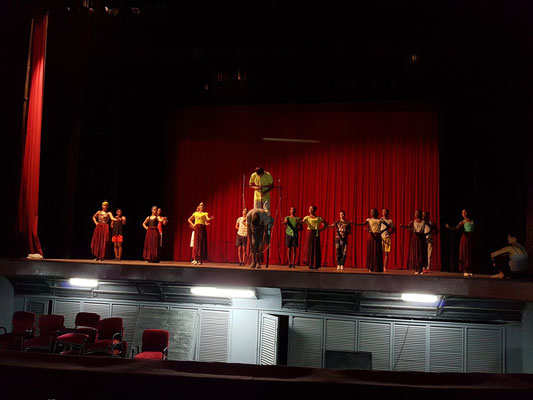 Camagüey, Teatro Principal de Camagüey, Probearbeit