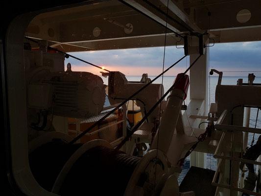 Blick aus der Kabine 6229 um 08:08 Uhr