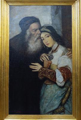 Shylock und Jessica, Gemälde von Maurycy Gottlieb, 1887 (Kopie)