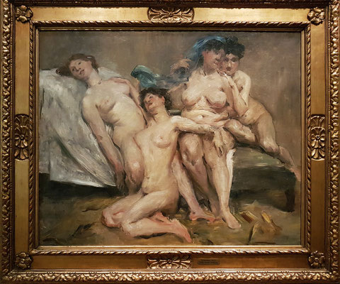 Lovis Corinth (1858-1925): Frauengruppe (Freundinnen, große Fassung), 1904, Öl auf Leinwand