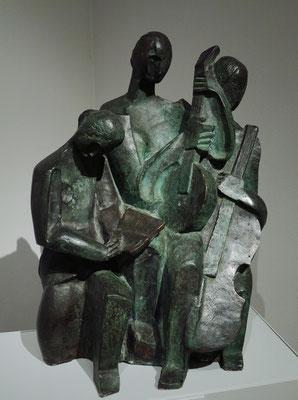 """Ossip Zadkine (1890 - 1967): """"Musikanten"""", Bronze, 1927"""