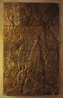 Museu Calouste Gulbenkian; Mauerrelief Assyrien-Nimrud, 884-859 v. Chr., NW-Palast von Ashurnasirpa II, Alabaster