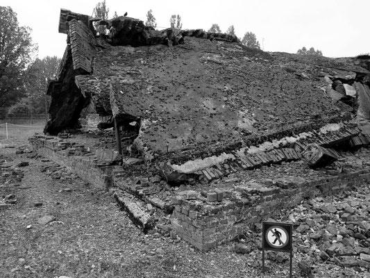 Ruinen von Gaskammer/Krematorium 2