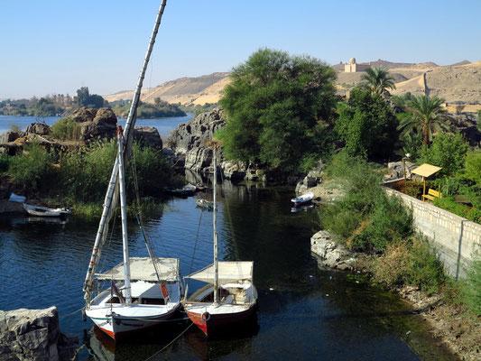Blick vom Südende der Kitchener-Insel auf die Nillandschaft