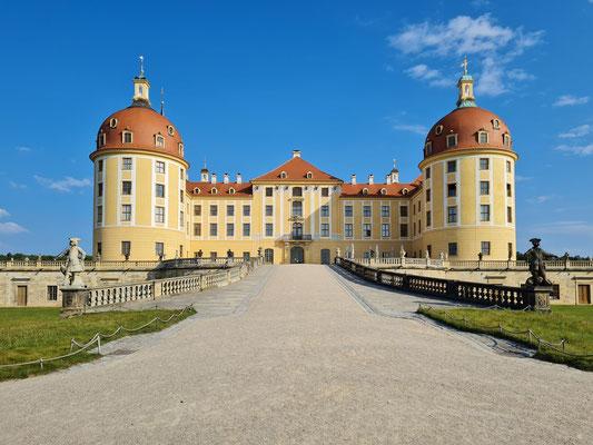 Schloss Moritzburg, Blick von Süden
