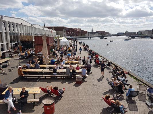 Außenanlagen des Copenhagen Street Food