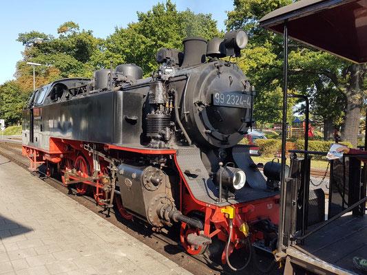 Dampflok 99 2324-4 am Endbahnhof Bad Doberan