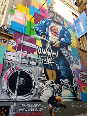 Graffito GardeRobe MannekenPis (Val des Roses) (Foto: Kerstin Rother-Schäfer)