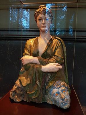 Max Klinger (1857-1920): Die Neue Salome, 1887/88, Gips, bemalt