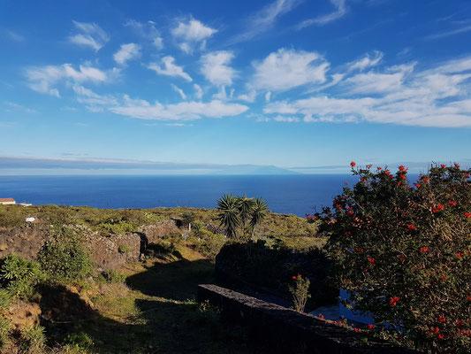 Blick von El Lucero zur Nachbarinsel La Palma