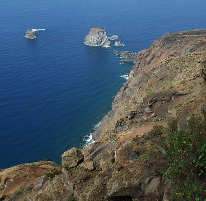 Aussicht vom Mirador de la Peña auf die Roques de Salmor