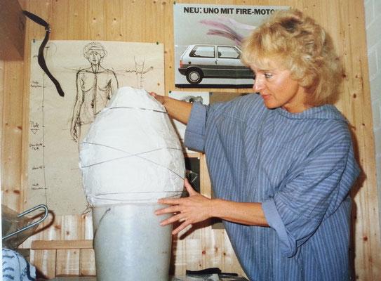 Negativ-Abguss eines Tonkopfes, 1986