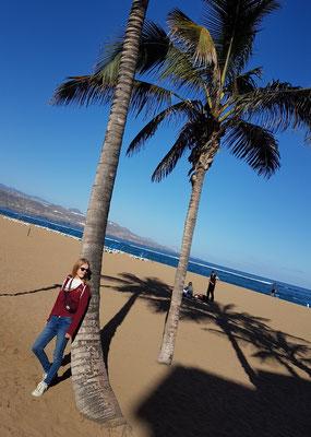Las Palmas, Playa de Las Canteras, morgens um 10 Uhr