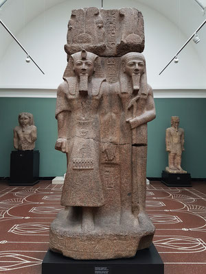 Pharao Ramses II und Gott Ptah, Tempel von Ptah in Memphis, Granit, Herrschaft Ramses II, ca. 1290-1224