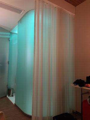 Dusche mit wechselnden Farben