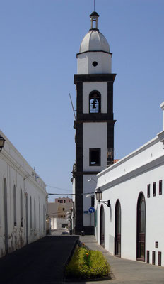 Inselhauptstadt Arrecife. Kirche San Ginés, 17. Jahrhundert