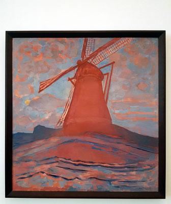 Piet Mondrian: Windmill, Öl auf Leinwand, ca. 1917