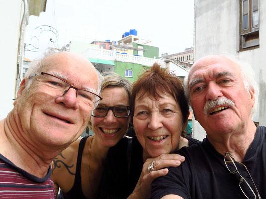 Frank, Nuschi, Ursula, Bernd am 12.01.2018, v.l.n.r. (Selfie-Foto: Bernd.Th)