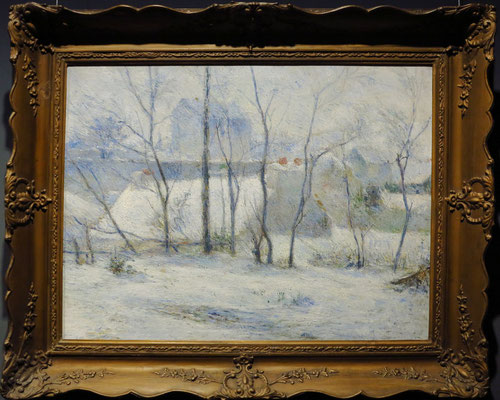Paul Gauguin: Garten unter Schnee, 1879