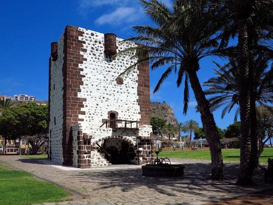 San Sebastián de la Gomera, Torre del Conde, ältestes Gebäude der Insel von 1447, als Bestandteil der Stadtbefestigung erbaut