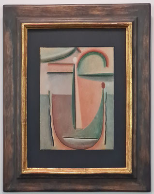 Alexej von Jawlensky (1864-1941): Abstrakter Kopf, um 1923/24, Öl auf Karton