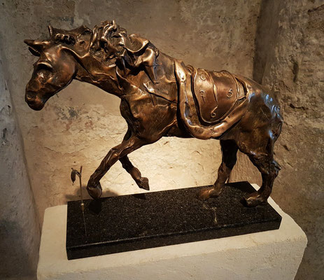 Horse saddled with Time, Bronze 1980