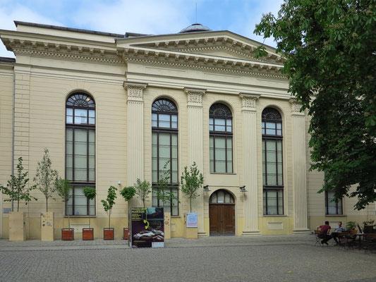 """Synagoge """"Zum Weißen Storch"""", erbaut 1827 vom Berliner Architekten Carl Gotthard Langhans (Schöpfer des Brandenburger Tors)"""