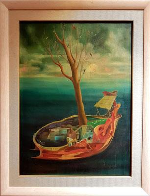 Mirko-Mitko Bulajić: Boot, Öl auf leinwand, 1971