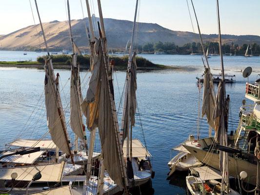 Feluken auf dem Nil