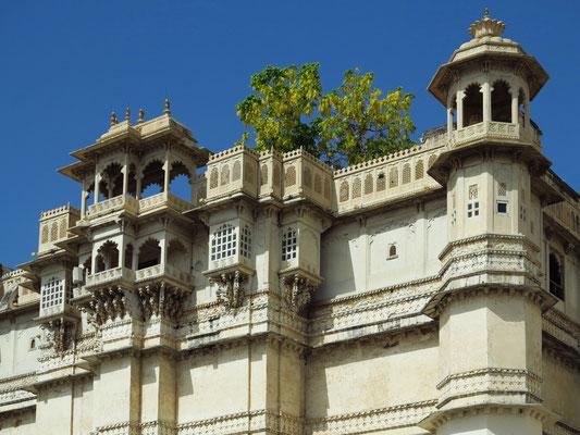Stadtpalast, Detail der Westfassade
