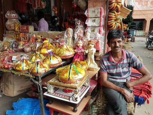 Verkauf von indischen Opfergaben (?)