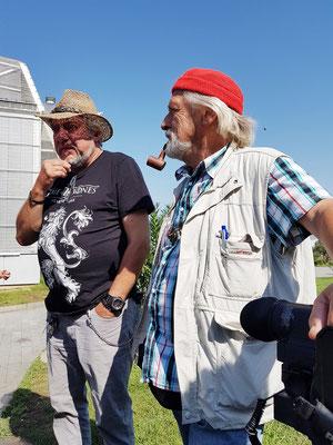 Reiseleiter Anton Vogl und Kameramann Albert Heyne