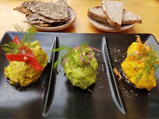 Veganes Abendessen im Bistro Veg Art Diet, Los Cancajos, Las Olas C3