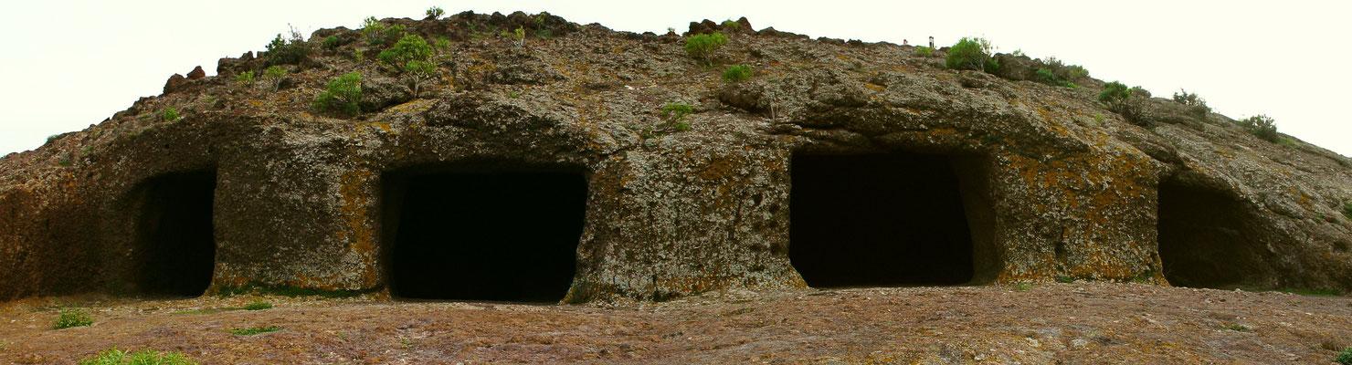 Montaña de las Cuatro Puertas (Berg der vier Tore), Heiligtum und Kultstätte der Ureinwohner. Hier befand sich ein Tagoror (Versammlungsplatz für Ratssitzungen und Gerichtsverhandlungen)