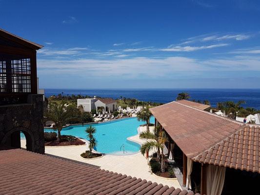 Meliá Hacienda del Conde, exklusive Adults-Only-Ferienanlage, Blick von der Patio-Terrasse