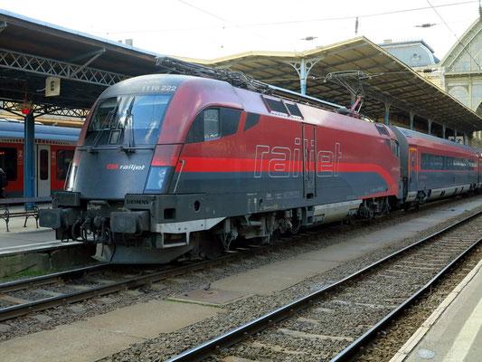 Railjet-Zugverbindung über Wien nach Frankfurt/Main