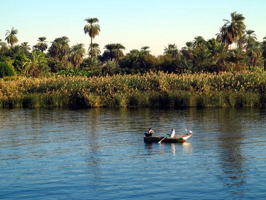 Der Nil zwischen Edfu und Esna